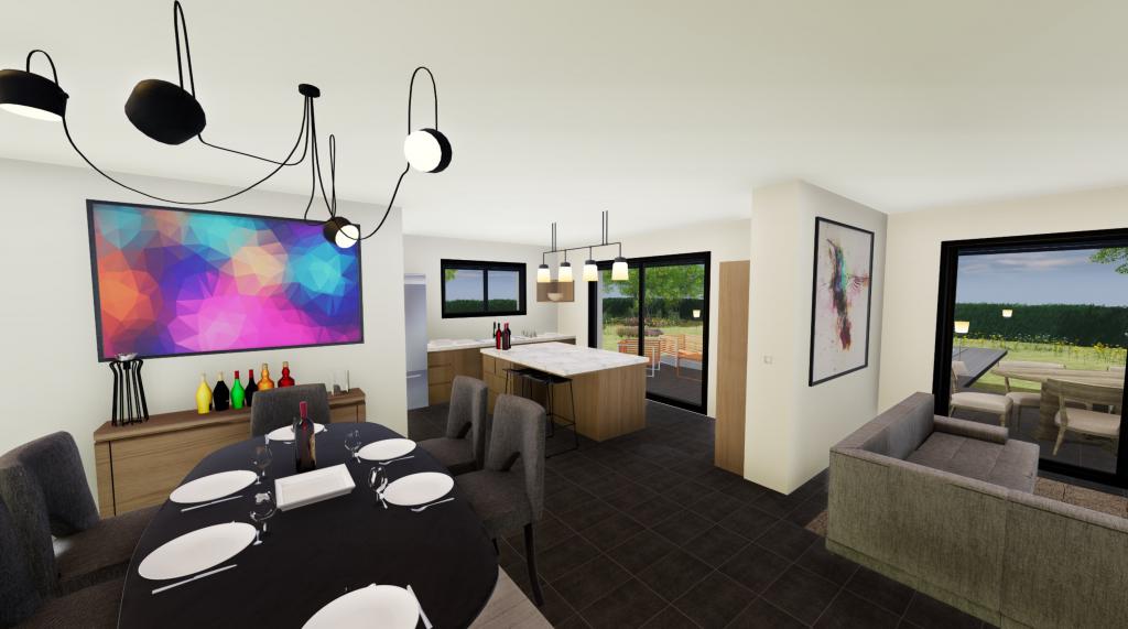 Clairlande - Modèle Albizia visuel cuisine salle à manger