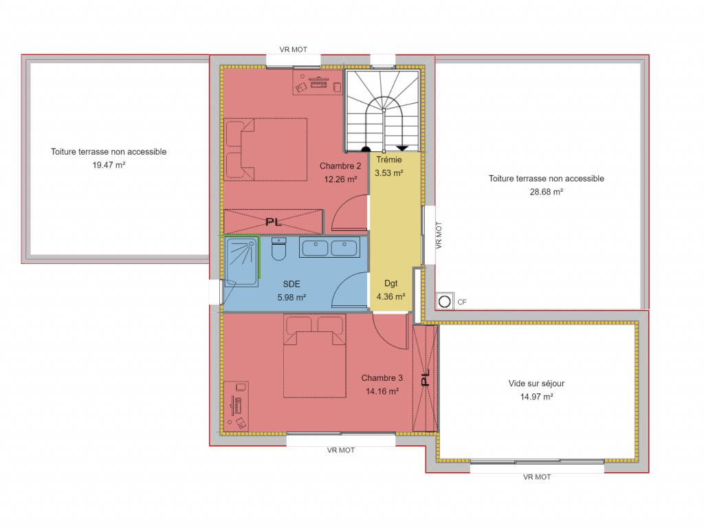 Clairlande - Modèle Yucca Plan R+1