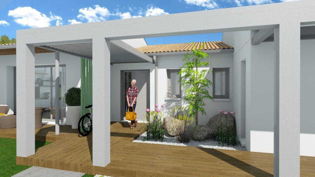 Une nouvelle maison témoin en cours de construction à HOMEXPO Bordeaux-Lac
